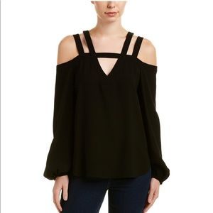 BCBGmaxAzria cold shoulder top